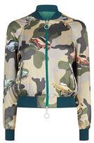 Pinko Camouflage Satin Bomber Jacket