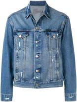 Calvin Klein Jeans distressed denim jacket