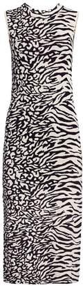 Proenza Schouler White Label Animal Mix Jacquard Dress