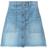 Current/Elliott The Naval Denim Mini Skirt
