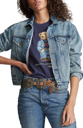 Polo Ralph Lauren Bear Graphic Trucker Jacket
