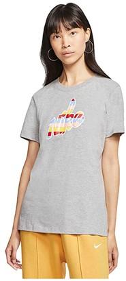 Nike NSW Tee Core HBR Print (Dark Grey Heather) Women's Clothing