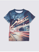 Marks and Spencer Photographic Street Scene Print T-Shirt (3-14 Years)