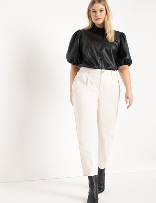 ELOQUII High Waisted Pleat Front Jeans
