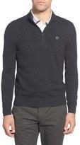 AG Jeans Men's Green Label 'Baker' Slim Fit Wool & Cashmere Half Zip Sweater