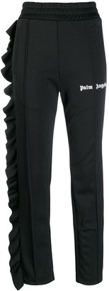 Palm Angels Ruffle Detail Sweatpants