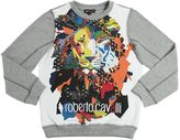 Roberto Cavalli Lion Printed Cotton Sweatshirt