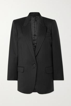 Nili Lotan Diane Pinstriped Wool-blend Twill Blazer - Black