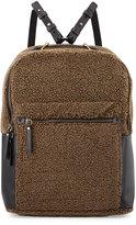 Kelsi Dagger Southside Faux-Shearling Backpack, Olive