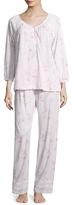 Midnight by Carole Hochman Jersey Long Cotton Floral Pajama Set