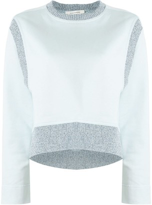 Cédric Charlier Ribbed-Trimmed Sweatshirt