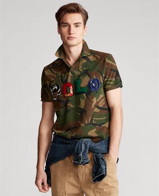 Ralph Lauren Custom Slim Fit Camo Polo