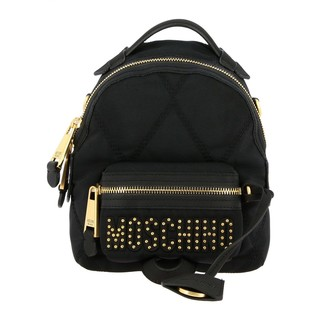 Moschino Backpack Backpack In Quilted Nylon With Studs Logo