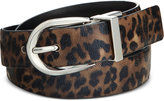 Style&Co. Style & Co. Reversible Leopard-Print Skinny Belt, Only at Macy's