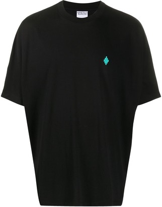 Marcelo Burlon County of Milan logo-embroidered oversized T-shirt