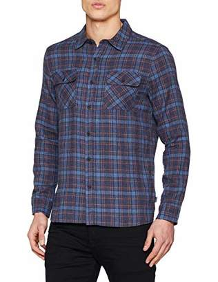 Hurley Men's Long Sleeve Plaid Woven Button Down Shirt