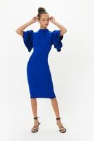 Coast Scuba Ruffle Sleeve Midi Dress