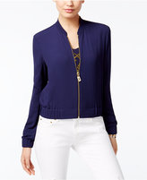 MICHAEL Michael Kors Cropped Bomber Jacket