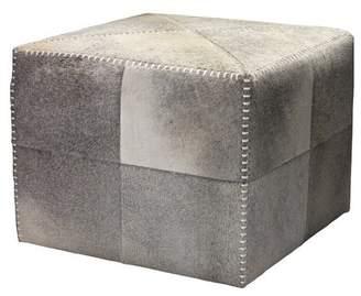 Foundry Select Gillian Leather Pouf Ottoman Foundry Select