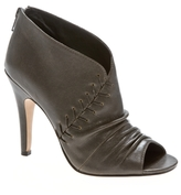 Sm Luxe Tinge Rouched Leather Bootie