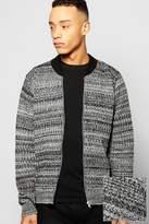 Boohoo Mixed Yarn Knitted Bomber Jacket