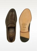 Mariano Napoli Dark Brown Italian Leather Penny Loafer Shoes