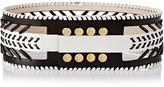 Balmain Cutout Leather Belt