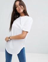 Asos Ultimate Curved Hem Boyfriend T-Shirt