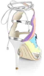 Sophia Webster Firebird Multicolor & Metallic Leather Ankle-Wrap Sandals