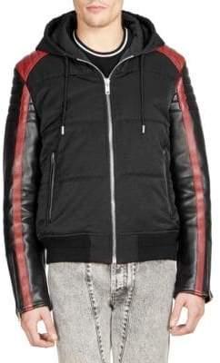 Givenchy Mixed Media Bomber Jacket