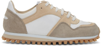 Spalwart White and Beige Marathon Trial Low WBHS Sneakers