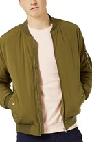 Topman Men's Padded Bomber Jacket