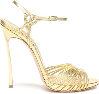 Casadei Strap-detailed Metallic-leather