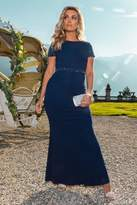Quiz Navy Embellished Maxi Dress