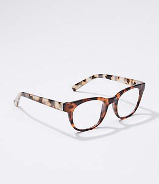 LOFT Ombre Tortoiseshell Print Square Reading Glasses
