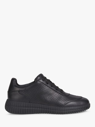 Geox Women's Noovae Leather Perforated Trainers