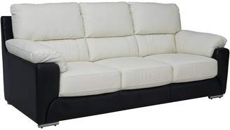 MontiReal Leather/FauxLeather 3 Seater Sofa