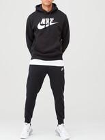 Nike Sportswear Club Graphic Overhead Hoodie - Black