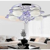 Brother quan Crystal LED Flush Mount,5 Light, Modern Fashion Stainless Steel Glass