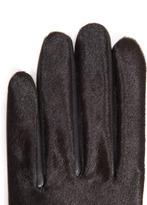 Agnelle Moka calf hair and leather gloves
