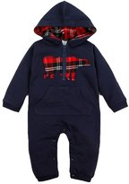 Happy Cherry Infant Toddlers Baby Romper Jumpsuit Bodysuit Hooded Clothes Outfit - 80