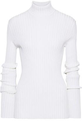 Victoria Beckham Ribbed Cotton-blend Turtleneck Sweater