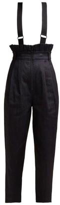 Tibi Paperbag-waist Denim Trousers - Womens - Denim