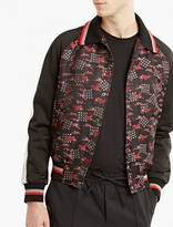 Lanvin Embroidered Silk Bomber Jacket