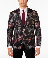 Tallia Men's Slim-Fit Black Floral Dinner Jacket