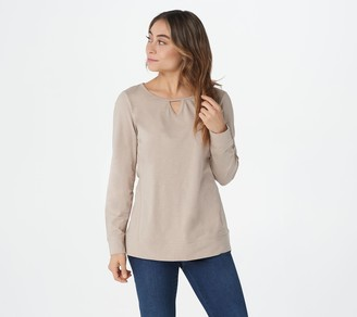 Denim & Co. Active Long-Sleeve Top with Keyhole Detail