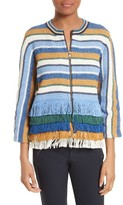 Tory Burch Women's Kinston Stripe Tweed Jacket