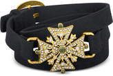 Rachel Roy Gold-Tone Pavé Faux Suede Wrap Bracelet