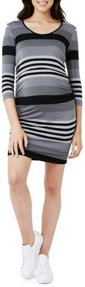 Ripe Striped Nursing Tube Dress