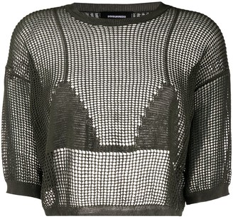 DSQUARED2 Cropped Crochet Top
